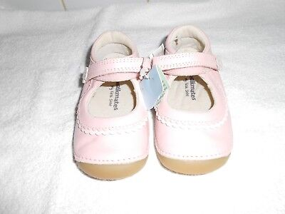 "M&S Infant Girls ""Walkmates"" PINK Leather FIRST Shoes Size UK 4 BNWOT"