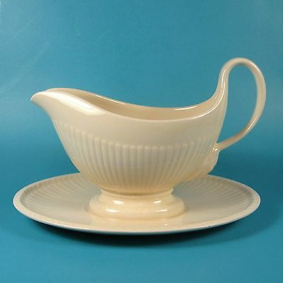 Wedgwood EDME Gravy Boat with Attached Underplate England Etruria and Barlaston