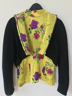 Thierry Mugler Iconic Floral Print Jacket and shirt From 1988 Campaign