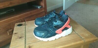 1a537e3a16 Infant Boys Nike Huarache Trainers Size 6.5(23.5) Navy Blue