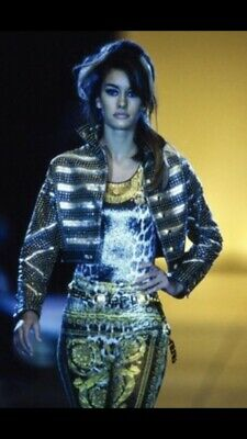 Gianni Versace SS 1992 Gold Studded Leather Jacket