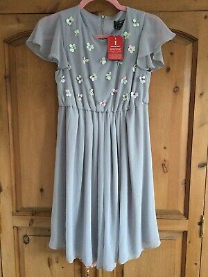 311defc7173e7 Maternity Dress Size 8 Floaty Party New Rock A Bye Rosie Grey New With Tags