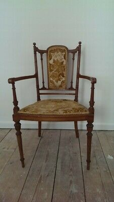 Antique Old Victorian ? Oak ? Dining Chair ?