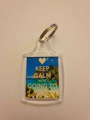 """/""""Keep Calm We/'re Going to Ibiza/"""" Holiday Keyring"""