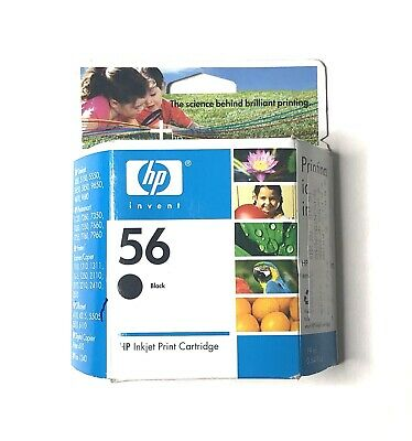 HP Hewlett Packard Genuine #56 Black Ink Cartridge EXP NIB