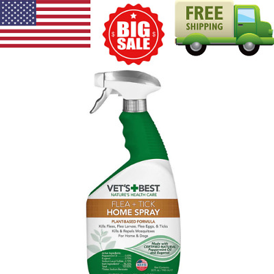 Vet's Best Flea and Tick Home Spray for Dogs and Home USA Made, FREE SHIPPING