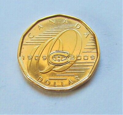 2009 CANADA MONTREAL CANADIENS COMMEMORATIVE LOONIE- combined shipping
