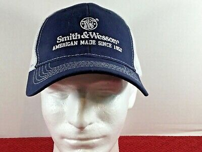 81ba8d7b4820ca Smith & Wesson Navy Blue & White Mesh Adjustable Back Cap. FAST, FREE  SHIPPING