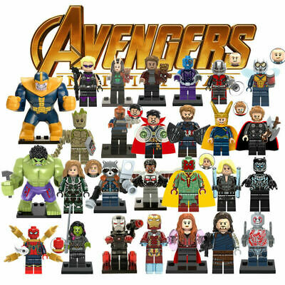 Marvel Heroes Building Blocks - Avengers End Game Thor Ironman++ - 74 Variations