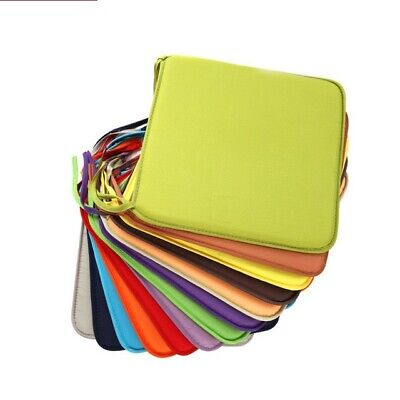 """Candy Colors Square 15"""" Chair Seat Cushions Pads Tie On Straps Birthdays Party"""