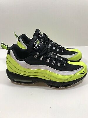 605e2aff4d8fb Nike Air Max 95 Premium Men's Volt Glow Black Running Shoes 538416 701 Size  11