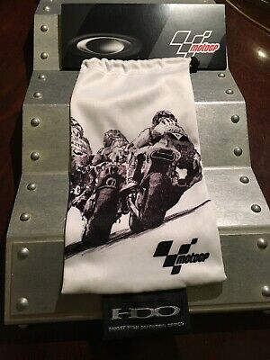 """Oakley Sunglass Storage/Clean Micro Bag Pouch """"motoGP"""" Racing Special Edition"""