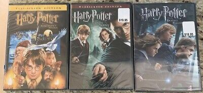 Harry Potter LOT 3 Movies SEALED New Sorcerers Stone Order Phx Deathly Hallow