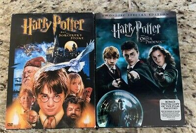 Harry Potter 2 Disk Special Edition Movies LOT of 2 Sorcerers Stone Order Phx