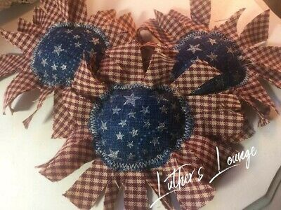 New PrImITive Bowl Fillers Stars Red White Blue Americana Sunflowers