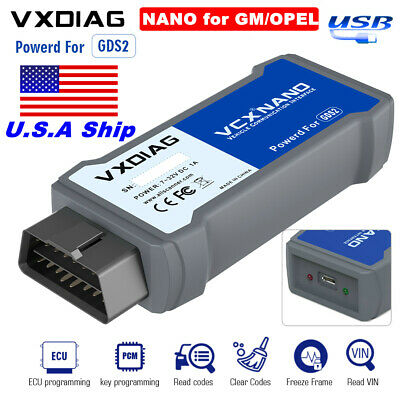 USA Shipping VXDIAG VCX NANO Diagnostic Tool V33.003 Tech2win and V2016.1.0 GDS2