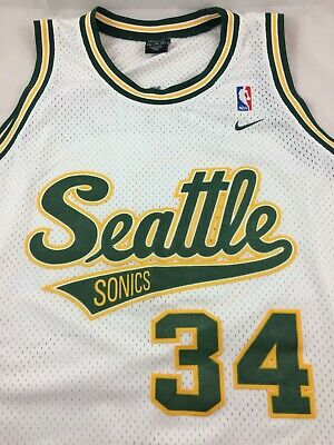 separation shoes 40dd4 b567a VTG NIKE RAY Allen Seattle Supersonics Jersey XL 71 Rewind Stitched Sewn  NBA #34