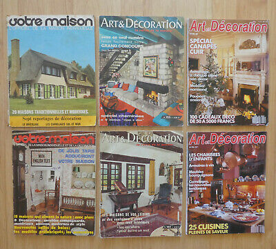 Vintage Retro 70s & 90s French Home Decor Mags Art & Décoration & Votre Maison