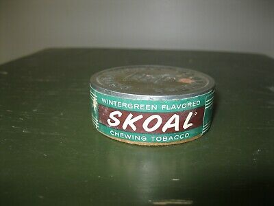 VINTAGE 1970 SKOAL Wintergreen Flavored Chewing Tobacco Can