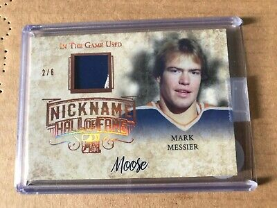 2018 ITG NICKNAME HALL OF FAME game Used Jersey Mark Messier NHF-30 ... (2/6)
