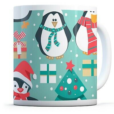 Drinks Mug Cup Kitchen Birthday Office Fun Gift #8102 Cute Funny Penguins
