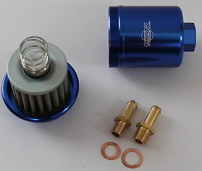 czr racing high flow fuel filter washable honda 1995 civic blue