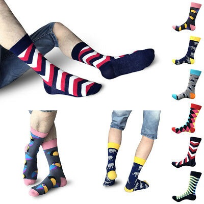 Fashion Men Women Socks Combed Cotton Animal Fruit Bird Casual Happy Socks Funny