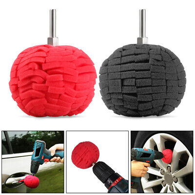 """3"""" Super Soft Drill Power Ball Polisher Buffing Alloy Wheel Cleaning Detailing"""