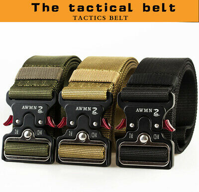 "49*1.97"" ENNIU Men Tactical Buckle Belt Military Nylon Belt Training Strap New"