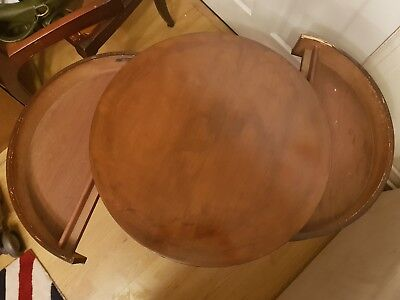 Antique Rare round mahogany Coffee/ side table with drawers by GT Rackstraw CM7