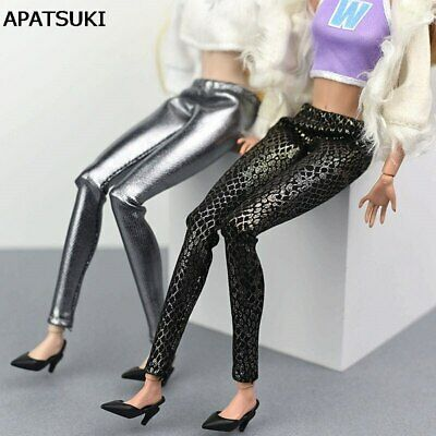 "Fake Snake Leather Bottoms Trousers Long Pants For 11.5"" Doll Clothes 1/6 Toy"