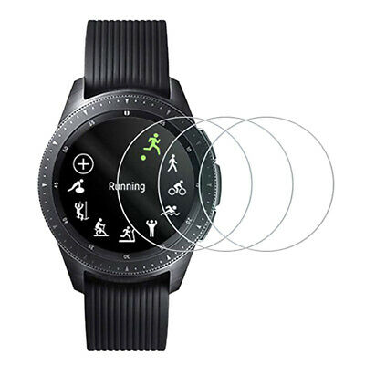 3 X Samsung Galaxy Watch 9H Tempered Glass Screen Protector Size 42 mm / 46mm
