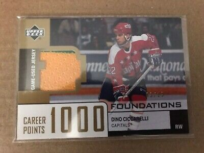 2001-02 UD Foundations Career 1000 Points Game Used Jerseys Dino Ciccarelli 3/15
