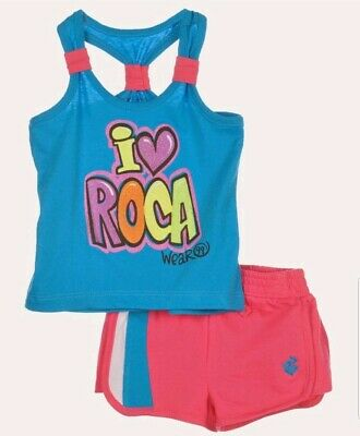 Rocawear Girls Shorts & Shirt Set Outfit Size 5 NWT