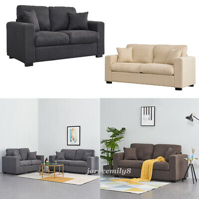 Modern 2 Seater / 3 Seater Fabric Padded Sofa Couch Settee Armchair Furniture