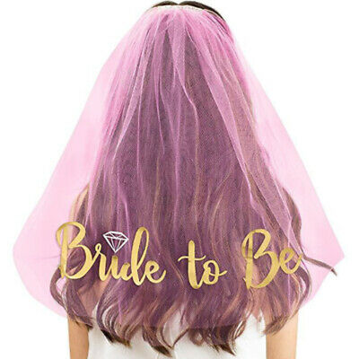 Veil Comb Bride to Be Hen Night Wedding Party Accessories Bachelorette Party Do