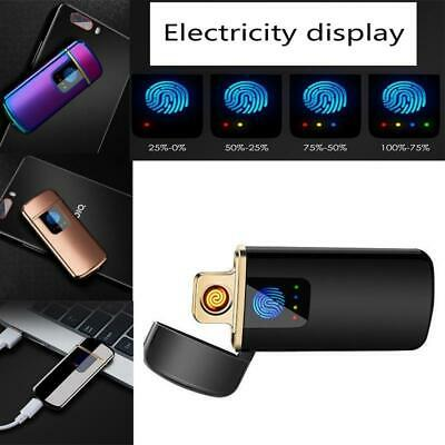 Electric Ultra Slim USB Rechargeable Cigarette Lighter Windproof Lighters Colors