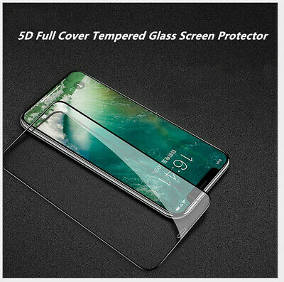 5D Full Cover Tempered Glass Screen Protector for iPhoneX /Xs Max Xr 8 7 6 P+ Z8