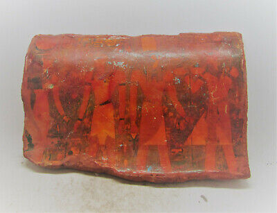 Very Rare Ancient Egyptian Tablet Fragment With Coptic Cloth. Recoloured