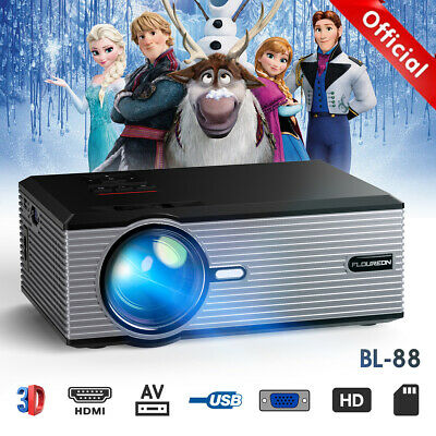 3D 1080P HD LCD Video proyector Vídeo Multimedia Cine Proyectore HDMI/USB/ Movie