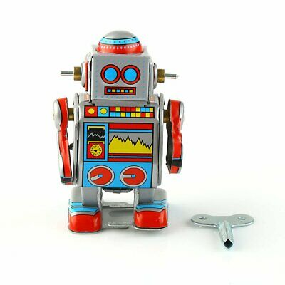 AU Mini Multi-colored Wind-up Metal Robot Model Toy Boys Xmas Gift Collection