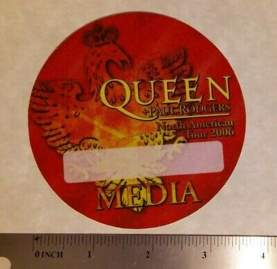 QUEENwith PAUL RODGERS authentic 2006 concert tour MEDIA backstage pass OTTO