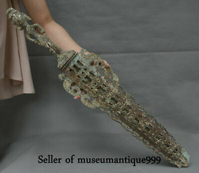 "25.6"" Ancient Chinese Bronze Ware Western Zhou Dynasty Palace weapon Sword sabre"