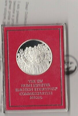 Cased 1997 Tony Blair Prime Minister Silver Proof Medal In Near Mint Condition
