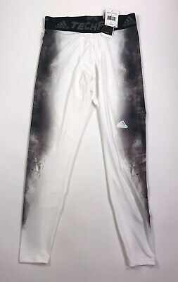 2e3024a486742 Adidas Mens Size Large White Gray Techfit Unaged Compression Tights Pants  New