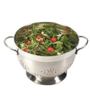 Stainless Steel Salad Vegetable Colander Double Handled 24cm (Dia)