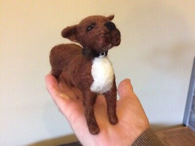 Handmade needle felted Staffordshire Bull Terrier