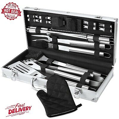 BBQ Grill Tool Set, 21-Piece Heavy Duty Stainless Steel Grilling Utensils Tools