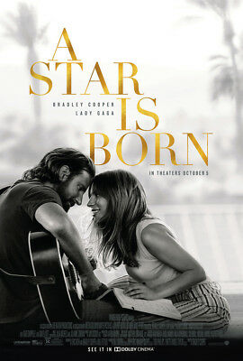 A STAR IS BORN MOVIE POSTER DS ORIGINAL FINAL B 27x40 LADY GAGA BRADLEY COOPER