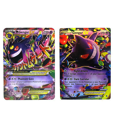 Gengar Set Mega 35/119 & EX 34/119 Pokemon Collection with Box Case and Sleeve